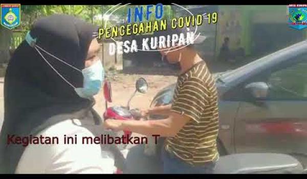 Pembagian Masker Tim Relawan PPKM Desa Kuripan